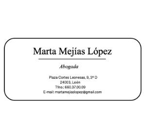 Marta Mejías López Abogada